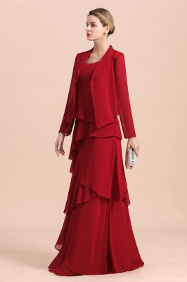 Rote Brautmutterkleider Mit Jacket   Kleider Für Brautmutter_4