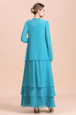 Blaue Brautmutterkleider Mit Jacket   Brautmutter Suit Günstig_3
