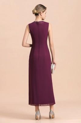 Grape Brautmutterkleider mit Jacket | Chiffon Kleider Brautmutter Suit_11