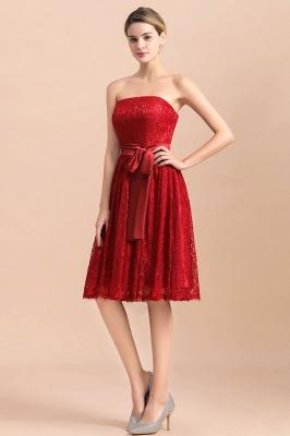Brautjungfernkleid Kurz Rot | Schöne Brautjungfernkleider Günstig_4