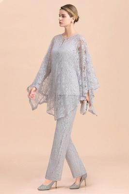 Silber Brautmutterkleider Jumpsuit   Brautmutterkleid mit Stola_6
