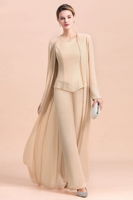 Champagne Brautmutterkleider Mit Jacket | Jumpsuit Brautmutterkleid_5