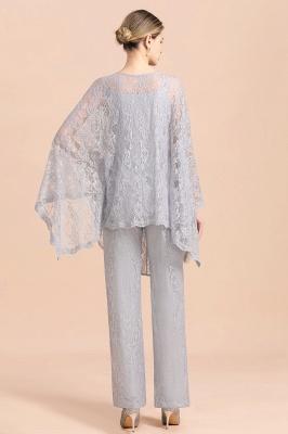Silber Brautmutterkleider Jumpsuit   Brautmutterkleid mit Stola_3