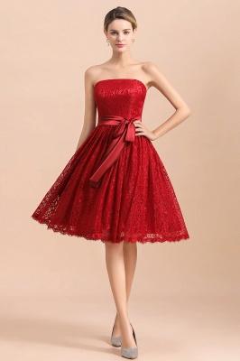 Brautjungfernkleid Kurz Rot | Schöne Brautjungfernkleider Günstig_1