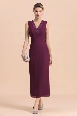 Grape Brautmutterkleider mit Jacket | Chiffon Kleider Brautmutter Suit_9