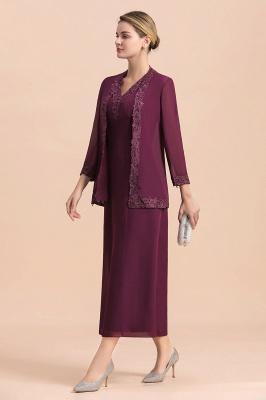 Grape Brautmutterkleider mit Jacket | Chiffon Kleider Brautmutter Suit_7