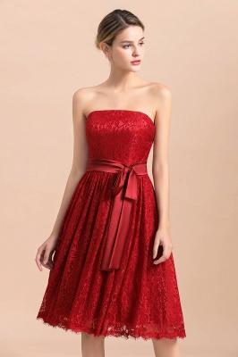 Brautjungfernkleid Kurz Rot | Schöne Brautjungfernkleider Günstig_7