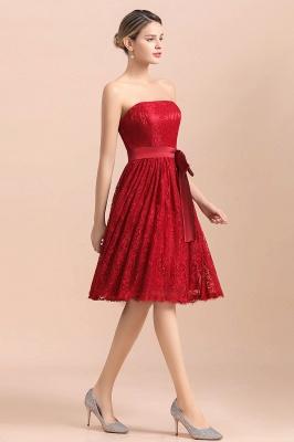Brautjungfernkleid Kurz Rot | Schöne Brautjungfernkleider Günstig_6