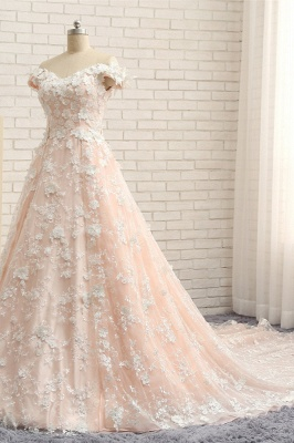 Günstige Hochzeitskleider A Linie   Brautkleider Spitze_3