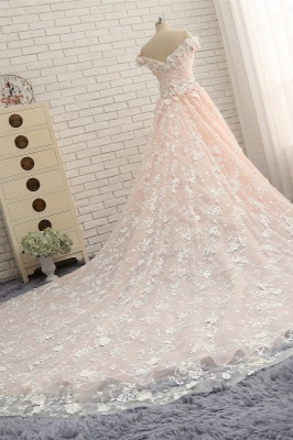 Günstige Hochzeitskleider A Linie   Brautkleider Spitze_4