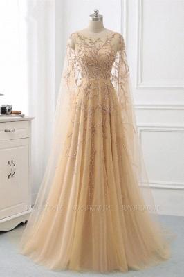 Schöne Abendkleider Gold | Abiballkleider mit Ärmel