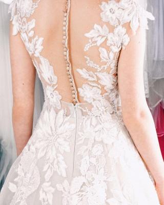 Spitze Hochzeitskleider A Linie   Brautkleider Online_4