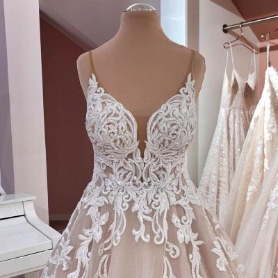 Schöne Hochzeitskleider A Linie | Brautkleider mit Spitze_5