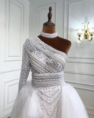 Weiße Abendkleider Mit Ärmel | Abiballkleider Lang Günstig_4