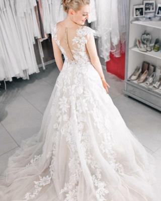 Spitze Hochzeitskleider A Linie   Brautkleider Online_3