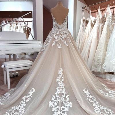 Schöne Hochzeitskleider A Linie | Brautkleider mit Spitze_3