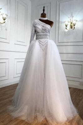 Weiße Abendkleider Mit Ärmel | Abiballkleider Lang Günstig_1