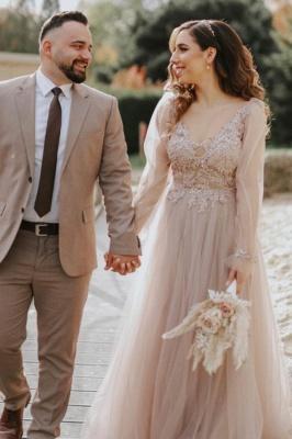 Schlichte Hochzeitskleider Mit Ärmel | Brautkleider mit Spitze
