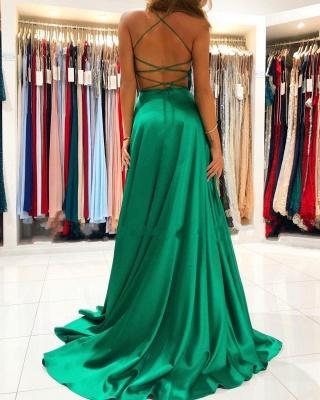 Schlichte Abendkleider Lang Grün | Abendmoden Online_2