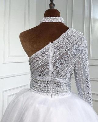 Weiße Abendkleider Mit Ärmel | Abiballkleider Lang Günstig_3