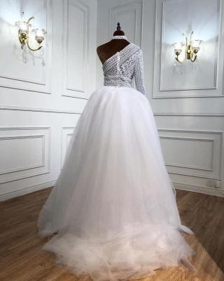 Weiße Abendkleider Mit Ärmel | Abiballkleider Lang Günstig_2