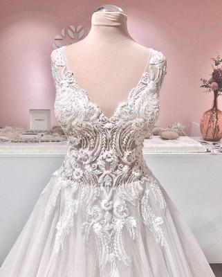 Wunderschöne Hochzeitskleider A Line | Brautkleider Mit Spitze_3