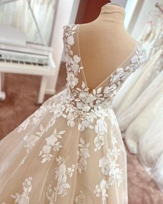 Brautkleider A linie Spitze | Hochzeitskleider Online Kaufen_2