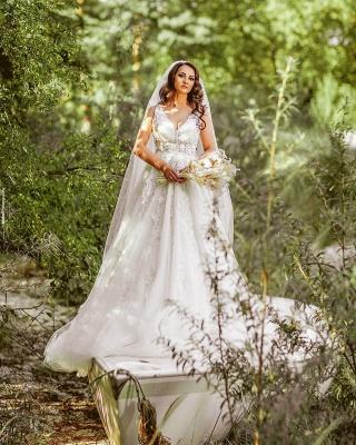 Elegante Hochzeitskleider A Linie Spitze   Brautkleider Günstig Kaufen_2