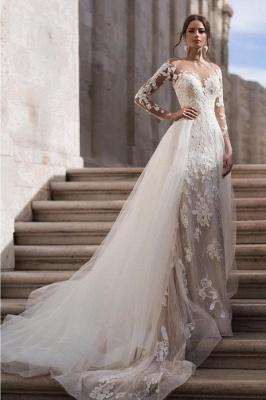 Elegante Brautkleider A Linie | Hochzeitskleider Spitze Günstig