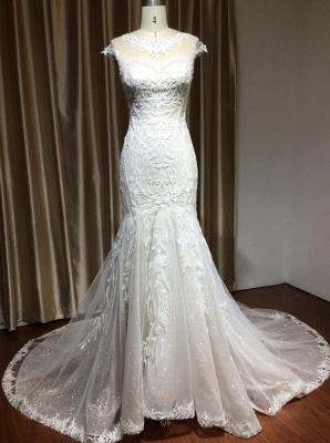 Schöne Hochzeitskleid Meerjungfrau   Brautkleider Spitze Günstig_2