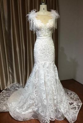 Elegante Brautkleider Meerjungfrau   Hochzeitskleider Spitze_2