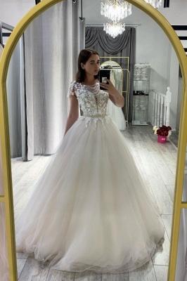 Weiße Hochzeitskleider A Linie | Brautkleider mit Spitze