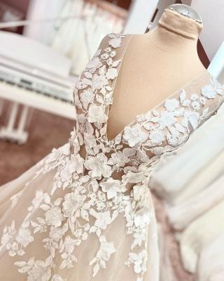 Brautkleider A linie Spitze | Hochzeitskleider Online Kaufen_3