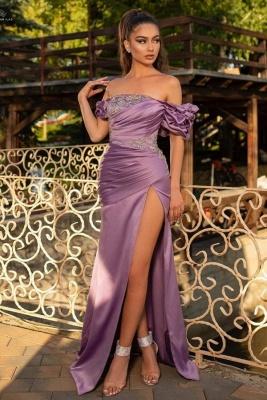 Purpur Abendkleider mit Spitze | Sexy Abiballkleider Lang Günstig