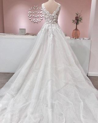 Wunderschöne Hochzeitskleider A Line | Brautkleider Mit Spitze_2