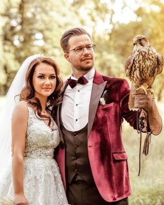 Elegante Hochzeitskleider A Linie Spitze   Brautkleider Günstig Kaufen_5