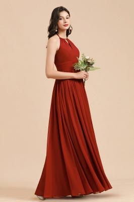 Rote Brautjungfernkleider Günstig   Chiffon Kleider Lang_7