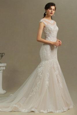 Schöne Hochzeitskleid Meerjungfrau   Brautkleider Spitze Günstig_6