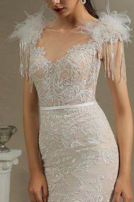 Elegante Brautkleider Meerjungfrau   Hochzeitskleider Spitze_4