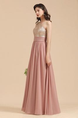 Brautjungfernkleider Lang Altrosa | Abendkleid mit Glitzer_8