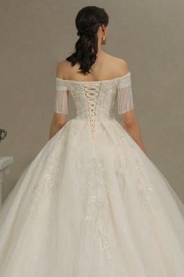 Extravagante Brautkleider A Linie   Spitze Hochzeitskleider mit Ärmel_8