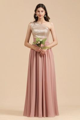 Brautjungfernkleider Lang Altrosa | Abendkleid mit Glitzer_7