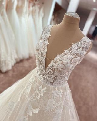 Designer Brautkleider A Linie Spitze | Wunderschöne Hochzeitskleider Online_3