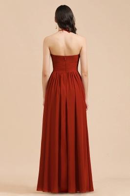 Rote Brautjungfernkleider Günstig   Chiffon Kleider Lang_3