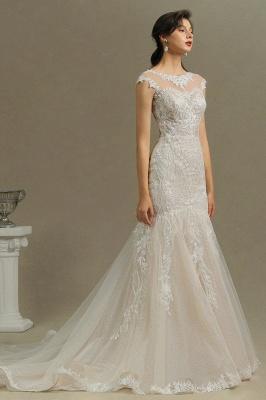 Schöne Hochzeitskleid Meerjungfrau   Brautkleider Spitze Günstig_5
