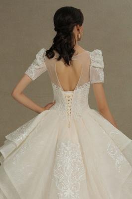 Schöne Brautkleider Mit Ärmel | Prinzessin Hochzeitskleider mit Spitze_9
