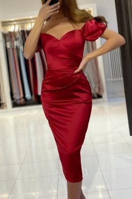 Rote Cocktailkleider Kurz | Schlichtes Abendkleid Abiballkleider