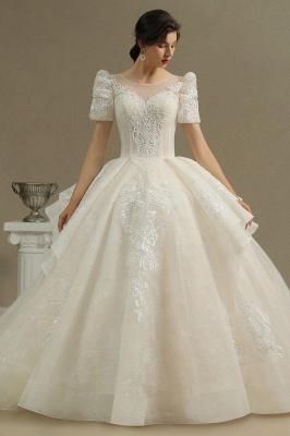 Schöne Brautkleider Mit Ärmel | Prinzessin Hochzeitskleider mit Spitze_2