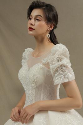 Schöne Brautkleider Mit Ärmel | Prinzessin Hochzeitskleider mit Spitze_6