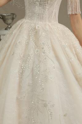 Extravagante Brautkleider A Linie   Spitze Hochzeitskleider mit Ärmel_4